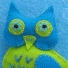 Simon the Owl Felt Pin Brooch by KoolKookyKreatures on Etsy, $10.00