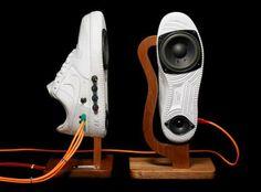 Sneaker Speakers By Alex Nash - http://www.decorationhunt.com/architecture/sneaker-speakers-by-alex-nash/
