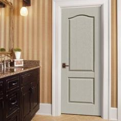 JELD WEN 28 In. X 80 In. Santa Fe Primed Right Hand Smooth Solid Core  Molded Composite MDF Single Prehung Interior Door | Remodeling Ideas |  Pinterest ...