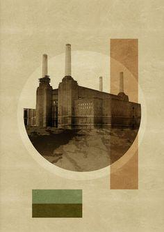 Painting - Pop Art Deco London - Battersea Power Station by Big Fat Arts Art Pop, London Painting, Art Deco Stil, Battersea Power Station, Digital Art Photography, Fat Art, Print Artist, Fine Art Gallery, Online Art