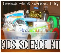 s your child interested in science experiments? You have to take a look at these DIY science kits for kids. Best 11 homemade science kits to keep the kids busy. Fun activity for preschoolers, kindergartners and elementary school kids. Kid Science, Science Experiment Kits, Science Kits For Kids, Kid Experiments, Preschool Science, Science Projects, Science Party, Preschool Plans, Kitchen Science