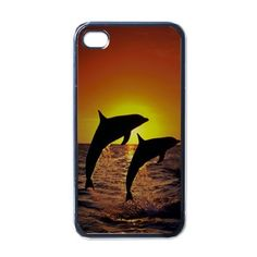 Apple iPhone Case - Dolphin at Sunset Pictures - iPhone 4 Case