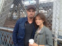 Jay and Kristin on location in Manhattan.