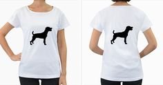 Parson+Russell+Terrier+Silo+Black+Women's+Loose-Fit+T-Shirt+(White)