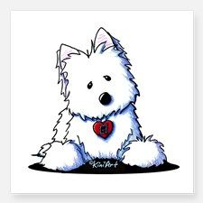 "Westie Doorway To My Heart Square Sticker 3"" x 3"" for"