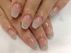 French gels with glitter.