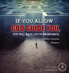 God's will for everyone is to abound in all things. If you allow God guide you, you will have life in abundance.  #PastorBiodun #Advance