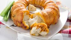 Make a spicy chicken and blue cheese pull-apart bread that guests will be nuts about!