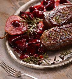 Pierś z gęsi z sosem piernikowym #lidl #przepis #okrasa #gęś #piernik