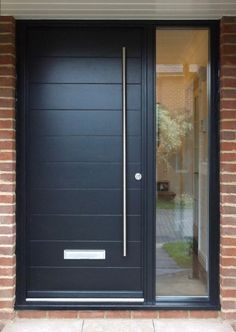 pin by on the doors in contemporary front doors timber front door grey front doors front door porch front door entrance contempory front doors Modern Entrance Door, Modern Front Door, Front Door Entrance, House Front Door, Glass Front Door, House Doors, House Entrance, Entry Doors, Timber Front Door