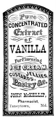 Vintage Clip Art - Apothecary Label - Vanilla Extract - The Graphics Fairy