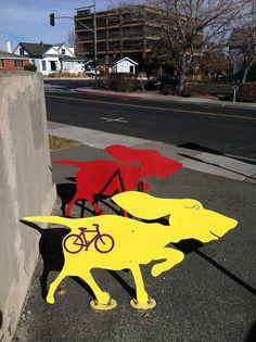 Dog Bike Rack