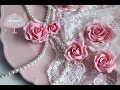 Zucker Rosen aus Blütenpaste Gum Paste Roses | Danis Cupcakes - YouTube