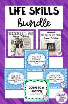 Life Skills BUNDLE: Activities to work on a variety of speech and language goals with life skills themes.
