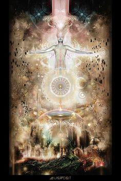 """Third Eye Tapestries - """"Luminous Return"""" by Mugwort"""