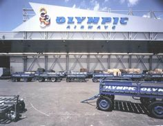 Olympic Airways Cargo Terminal 1999 Olympic Airlines, Athens, Olympics, Transportation, Aviation, Greece, Monster Trucks, World, Jet