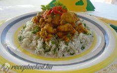 Kurkumás csirkemell karfiol rizzsel recept fotóval