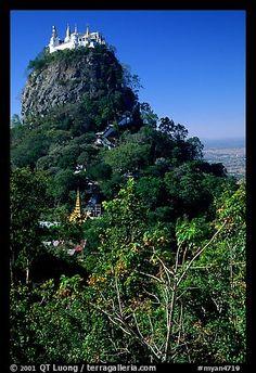 Complex of monestaries on a volcanic spire. Mount Popa, Myanmar