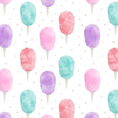 cotton candy with polka dots fabric by littlearrowdesign on Spoonflower - custom fabric