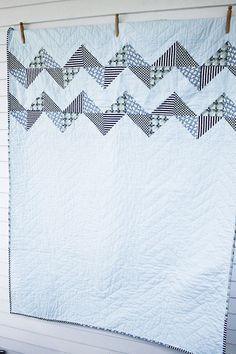 blue bunny quilt. by CB Handmade, via Flickr