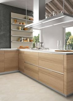 Clean lines and the warmth of timber - very cool.