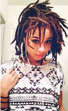 Locs| YES! Finally, a close up of how Braidlocs become locs over time! I love her style too!