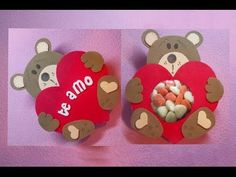Osito en Foami - Bear in Fomix - YouTube Sweet Corner, Diy And Crafts, Paper Crafts, Diy Cards, Boyfriend Gifts, Gingerbread Cookies, Mini Albums, Holiday Crafts, Projects To Try