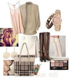 """Blushing Brown"" by karalexislv on Polyvore"