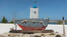 Griechische Boot Treibholz Kunst Original von WillyaCollection