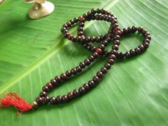 Red Sandalwood Mala/Meditation/Yoga/ Prayer by JapaMalaBeads, $6.99