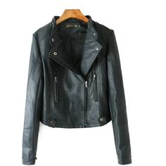 Chicnova Fashion Faux Leather Biker Jacket (39 AUD) ❤ liked on Polyvore featuring outerwear, jackets, vegan moto jacket, collar jacket, faux leather jacket, faux leather motorcycle jacket and rider jacket