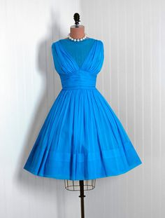 1950's Vintage TurquoiseBlue Draped by TimelessVixenVintage, $350.00