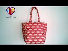 Bolsa em tecido das Rosas pequenas - Maria Adna Ateliê - Aulas e cursos de bolsas de tecidos - YouTube