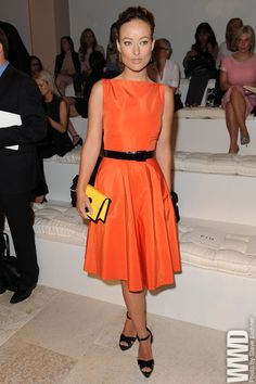 Olivia Wilde Front Row @ Ralph Lauren