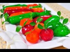 Thai Dessert - Eletable Imitation Fruits (Kanom Look Choup) - YouTube