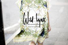 Wild Lynx H&M scarf pring kaftan dress
