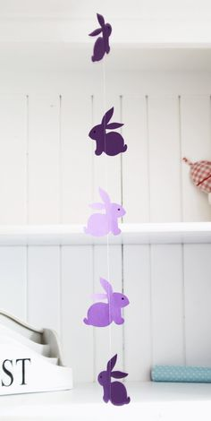 DIY: bunny garland (free printable template)
