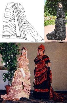 1875 Parisian Trained Skirt Pattern
