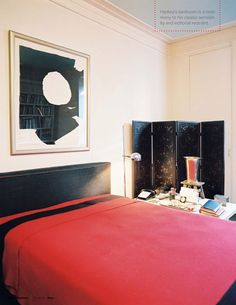 bedroom by Albert Hadley