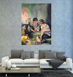 Sokak Çocukları (Street Children) by Kadir Kaplan Tuval üzerine #Yağlıboya / #Oiloncanvas 108cm x 150cm  #gallerymak #sanat #resim #ressam #ig_sanat #tablo #tuval #yagliboya #modernresim #modernsanat #çağdaşsanat #sanatgalerisi #sergi #istanbulmodern #istanbul #artoftheday #painting #modernart #contemporaryart #figuratif #figurative