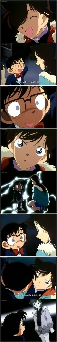 Ran caught Shinichi off guard.