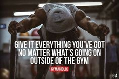 Give your all. Weight Loss Motivation Quotes, Fit Girl Motivation, Health Motivation, Motivation Inspiration, Workout Motivation, Workout Quotes, Fitness Inspiration, Workout Inspiration, Workout Humor