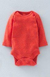 Mini Boden Pointelle Knit Bodysuit (Baby Girls)
