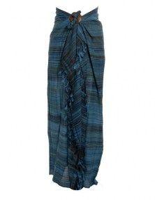 Sarong premium stripe blauw