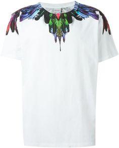 Marcelo Burlon County Of Milan feather print T-shirt