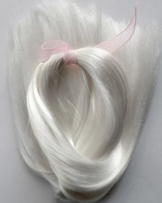 Doll Hair-Platinum White-Extralong by Treasuresdolls on Etsy