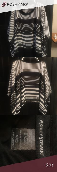 Ashley Stewart Sheer Top with Tank 18/20 NWOT Brand new top by Ashley Stewart. Top is sheer with flowing arms and there is a black tank attached underneath. Size 18/20 Ashley Stewart Tops Tunics