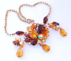 Juliana Style Rhinestone Necklace and by EmbellishgirlVintage