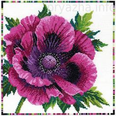 Bothy Threads - Purple Poppy - Garden Flowers Cross Stitch Kit from Bothy Threads Cross Stitch Kits, Cross Stitch Designs, Cross Stitch Patterns, Cross Stitching, Cross Stitch Embroidery, Embroidery Patterns, Modern Embroidery, Purple Poppies, Needlepoint Designs