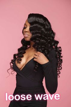 Brazilian Remy Human Hair Weave Loose Wave Unprocessed Virgin Hair 3 or 4 Bundles for African American Online Shop Brazilian Virgin Hair Bundles Loose Wave Remy Human Hair Off Now, DHL Worldwide Shipping,Store Coupons Available. Black Hairstyles With Weave, Curly Bob Hairstyles, Loose Hairstyles, Curly Hair Styles, Natural Hair Styles, Trendy Hairstyles, Hairstyles Pictures, 1950s Hairstyles, Ponytail Styles